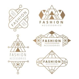 Coleção de logotipos de acessórios de moda