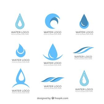 Coleção de logotipos de água para empresas