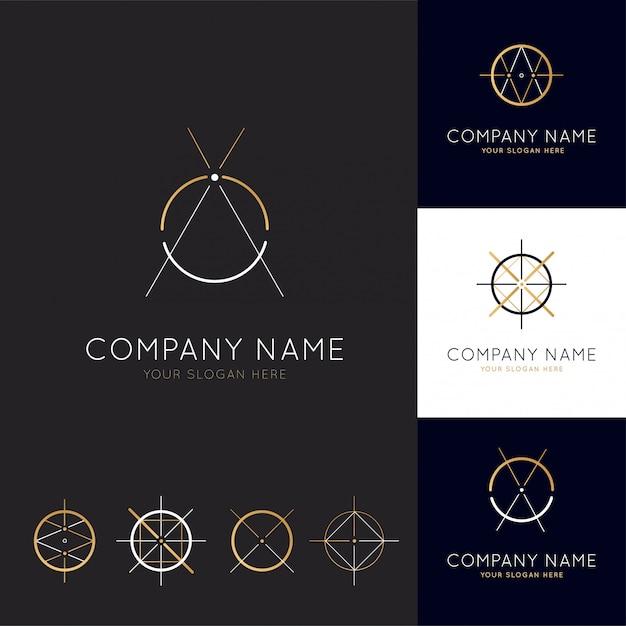 Coleção de logotipos de arquitetura abstrata