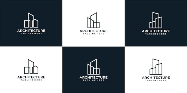 Coleção de logotipos de arquitetura