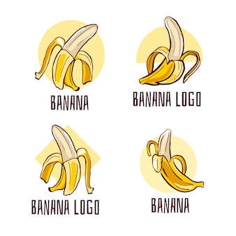 Coleção de logotipos de banana pilled