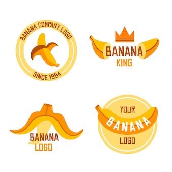 Coleção de logotipos de banana