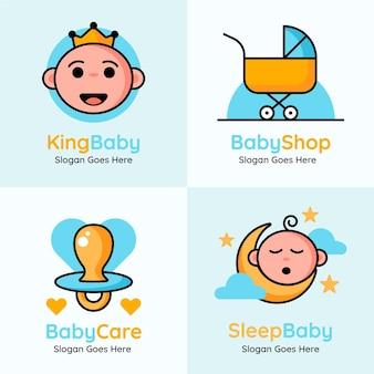 Coleção de logotipos de bebês fofos