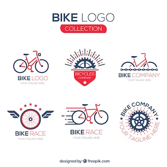 Coleção de logotipos de bicicleta