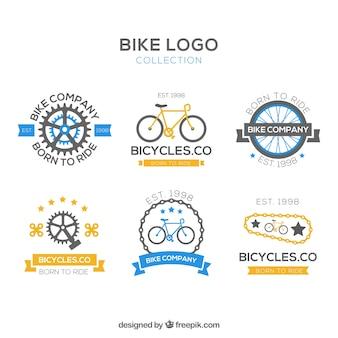 Coleção de logotipos de bicicletas vintage