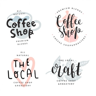 Coleção de logotipos de cafeteria