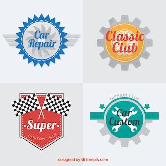 Coleção de logotipos de carro com elementos de cor