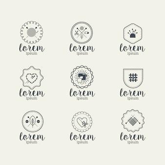 Coleção de logotipos de costura