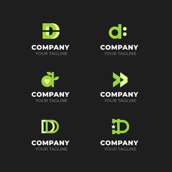 Coleção de logotipos de design plano d