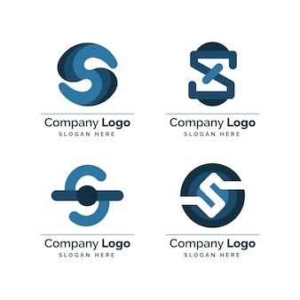 Coleção de logotipos de flat s criativos