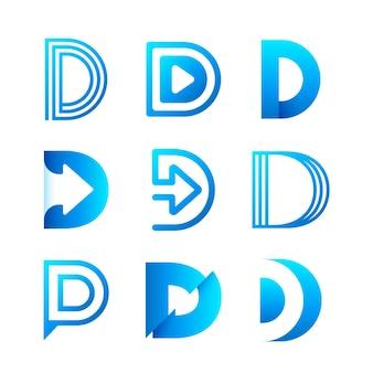 Coleção de logotipos de gradiente d