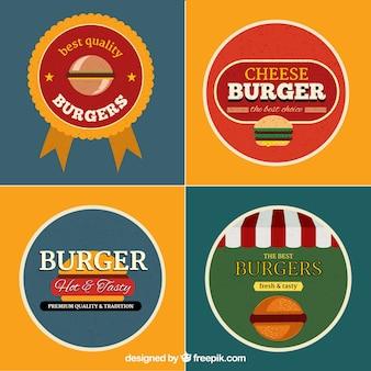Coleção de logotipos de hambúrguer
