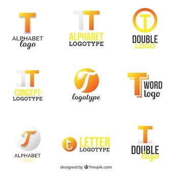 Coleção de logotipos de letra