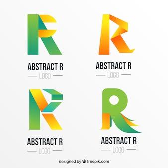 Coleção de logotipos de letras letra abstrata