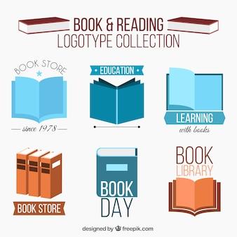 Coleção de logotipos de livro