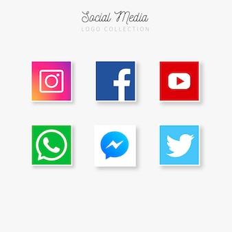 Coleção de logotipos de mídia social