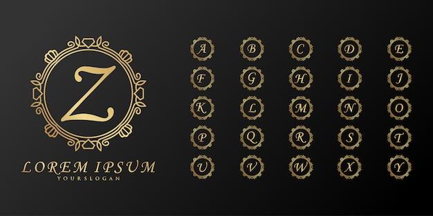 Coleção de logotipos de monograma de casamento