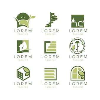 Coleção de logotipos de móveis