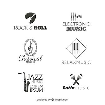 Coleção de logotipos de música