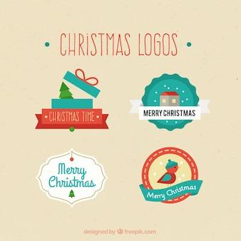 Coleção de logotipos de natal