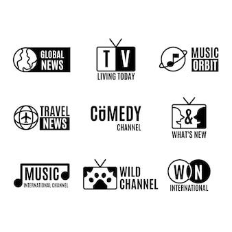Coleção de logotipos de notícias diferentes