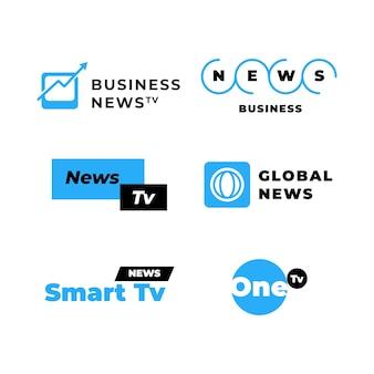 Coleção de logotipos de notícias