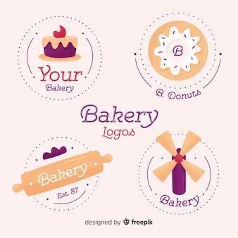Coleção de logotipos de padaria