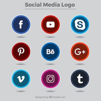 Coleção de logotipos de redes sociais