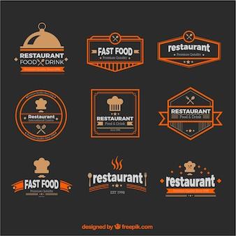 Coleção de logotipos de restaurante do vintage