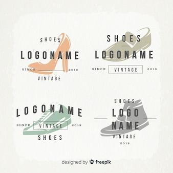 Coleção de logotipos de sapato de moda