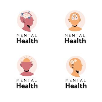 Coleção de logotipos de saúde mental