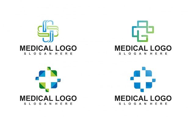 Coleção de logotipos de serviços médicos dentários