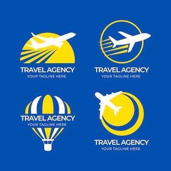 Coleção de logotipos de viagens diferentes