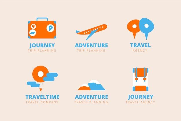 Coleção de logotipos de viagens