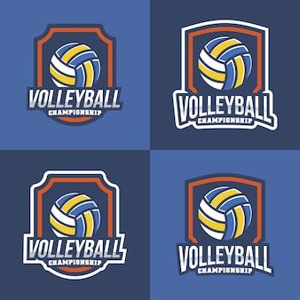 Coleção de logotipos de voleibol