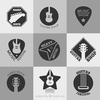 Coleção de logotipos do festival da música