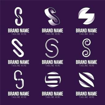 Coleção de logotipos do flat design