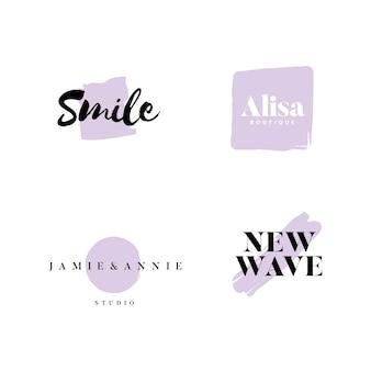 Coleção de logotipos e branding vector
