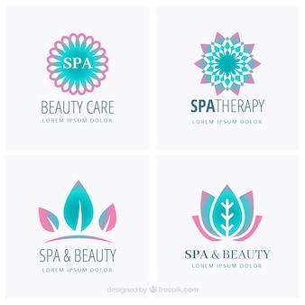Coleção de logotipos legal para spa