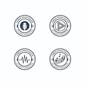 Coleção de logotipos musicais