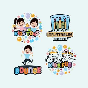 Coleção de logotipos para crianças