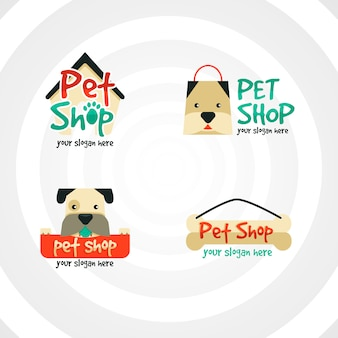 Coleção de logotipos para empresas de animais de estimação