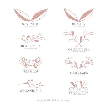 Coleção de logotipos para um salão de spa