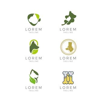 Coleção de logotipos veterinários