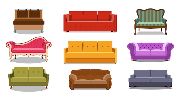 Coleção de lounge confortável para interior