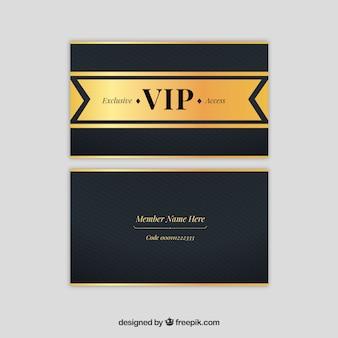 Coleção de luxo de cartões vip