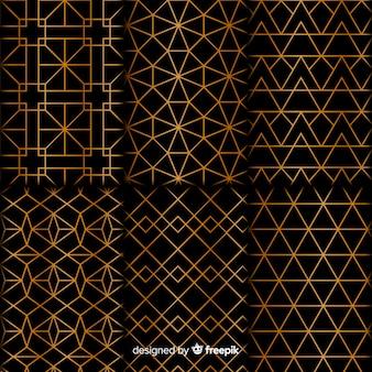 Coleção de luxo de formas gemoétricas