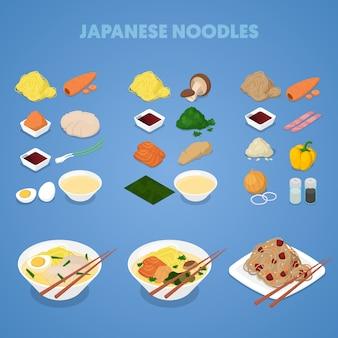 Coleção de macarrão japonês