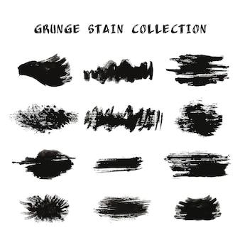 Coleção de mancha de grunge