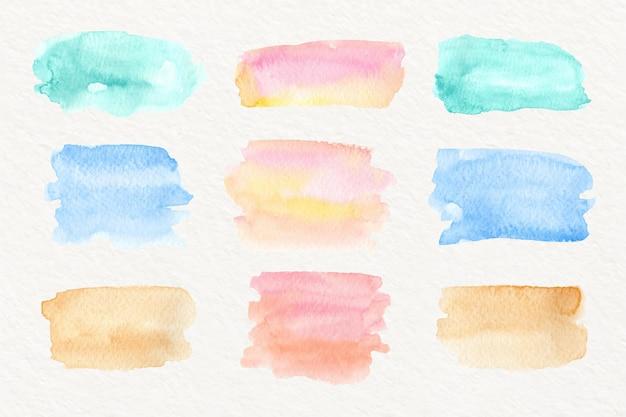 Coleção de manchas de aquarela abstrata
